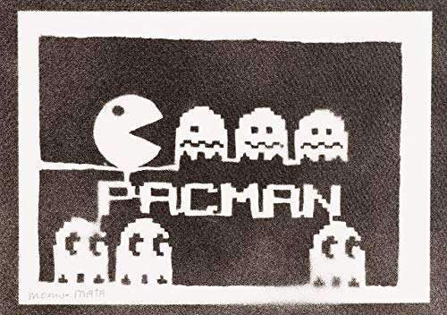 Pac-Man Poster Arcade Plakat Handmade Graffiti Street Art - Artwork