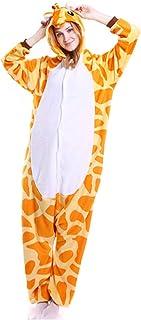AEIL Tutina per Adulti Pigiama Donna Abbigliamento da Notte Caldo Abbigliamento per la casa Punto di Dinosauro Unicorno An...
