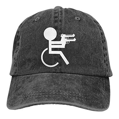 JONINOT Crap Handicap Divertida Silla de Ruedas Vintage algodón Lavado Hombres Mujeres Gorra de béisbol Distressedhats Ajustable papá-Sombrero