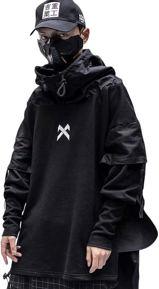 Aelfric Eden Mens Hoodie Fashion Rap Hip Hop Music Jacket Coat Long Hoodies Sweatshirt Windbreaker