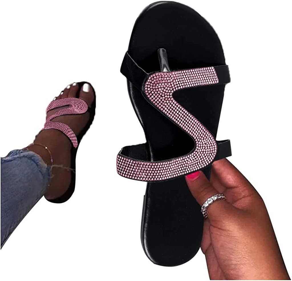 Direct stock discount siilsaa Sandals for Women Casual Summer Flip Chain Flat mart Clear Fl