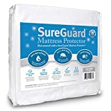 SureGuard California King Mattress Protector - 100% Waterproof, Hypoallergenic - Premium Fitted Cotton Terry Cover