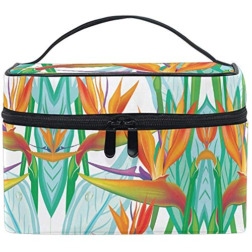 Trousse de Maquillage Birds of Paradise Flower Travel Cosmetic Bags Organizer Train Case Toiletry Make Up Pouch