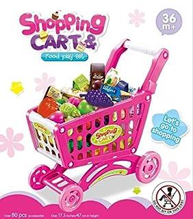 مجموعة العاب عربة تسوق وطعام للاطفال