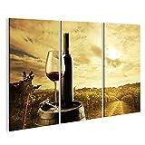 islandburner Bild Bilder auf Leinwand Wein Flasche Fass