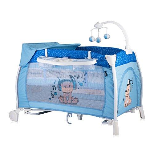 Lorelli 10080021810 Lit Parapluie + Mode Lit à Bascule Ilounge Bleu