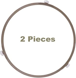 Outer Dia Plate8. 7 Inch,2Pcs Microwave Roller Ring Plate Tray Rotating Support,Microwave Turntable Ring for Glass Plate Tray