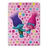 DreamWorks Trolls, Happy Smiles Micro Raschel Throw Blanket, 46' x 60'