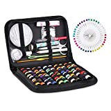 Sewing Kit, SMALUCK 128pcs DIY Premium Sewing Supplies, Mini Sewing Accessories for Travel, Home, DIY, Beginners, Emergency, Adults, Kids and Camping, Including 40 Spools of Thread, Sewing Needles etc