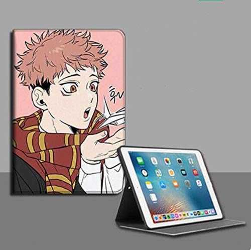 Compatible with iPad Protective Case,Children Ipad Gifts Anime Curse Back Battle Anti Fall Tablet Case Book Style Compatible with 12.9 In.Ipad Pro(2015/2017)