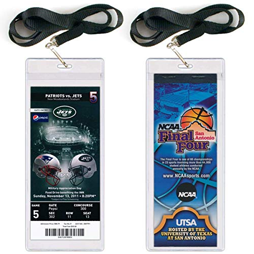 StoreSMART - Event Ticket Holder with Lanyard - 3' x 8' - Single Pack - LY3019S