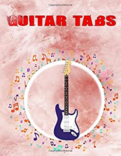 Guitar Tab Journal Notebook: Easy Acoustic Guitar Fingerpicking Tabs 108 Pages Glossy Cover Design Cream Paper Sheet Size 8.5x11 Inches ~ Easy - Music # Music Very Fast Prints.
