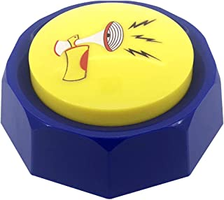 RIBOSY 9-Edge Air Horn Sound Button - DJ Hip Hop Air Horn Sound Effects Machine - Hype Up Your Life with Funny Airhorn Noise Maker Nut (Batteries Included)
