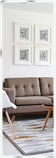 "Beauty4U Full Length Tall Mirror Tiles - Frameless Wall Mirror HD Vanity Make Up Mirror for Wall Décor (58"" x 14"")"
