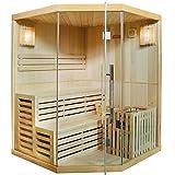 Artsauna Traditionelle Saunakabine/Finnische Sauna Espoo 150 x 150 cm 6 kW - 2