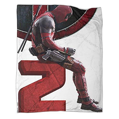 Manta colorida Deadpool para habitación de niños, divertida manta de invierno cálida (100 x 130 cm)