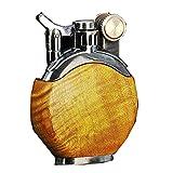 Mechero antiguo vintage, recargable, con funda extraíble de metal, encendedor clásico, regalo único de cumpleaños para papá marido (combustible no incluido), color amarillo