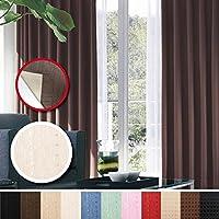 窓美人 センチュリオン 完全遮光 特殊コーティングカーテン 幅100×丈135cm 2枚入り アイボリー ストライプ柄 断熱・遮熱・防音 形状記憶付