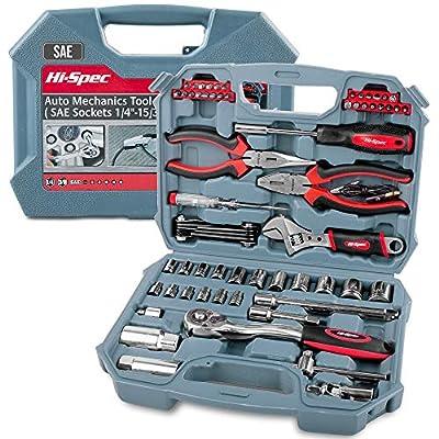 Hi-Spec 67 Piece Auto Mechanics Tool Set (SAE)