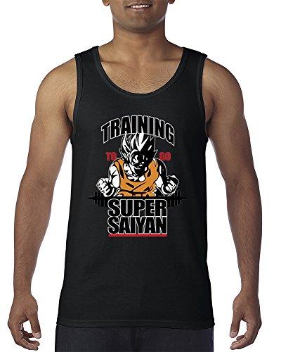 ShirtStarZone Training to Go Super Saiyan Funny Fitness Gym Workout Men s Tank Top Black