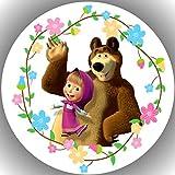 Decoración para tarta de cumpleaños de Masha y oso AMA 30
