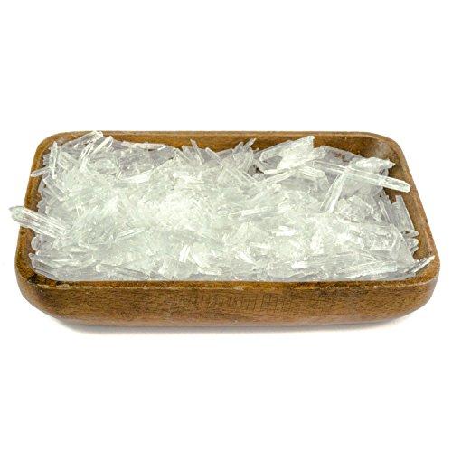 DIYer® - Mentholkristalle Saunakristalle – aus 100{32faa5fb32a05fa3ccfc3c1ba2cf03ddb7ec14e502bf81230165f044aa93032f} reinem Minzöl - pharmazeutische Qualität für Sauna Aufgüsse - große Menthol Kristalle - 200g