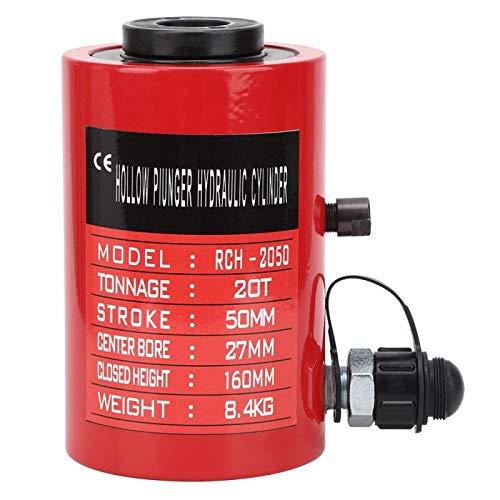 RCH2050 20t 2in geteilter Hydraulikzylinder Doppeltwirkender Hydrozylinder Hohlkolben Doppeltwirkender 50mm Hub