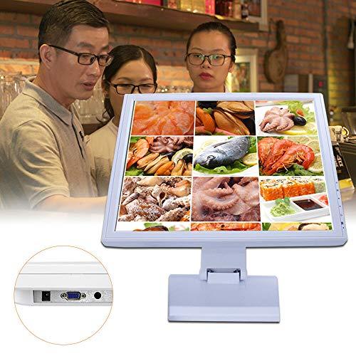 Monitor de Pantalla Táctil LED Blanco de 17