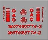 Ecoshirt SO-VNVG-0O78 Pegatinas Bicicleta Motoreta R303 Stickers Aufkleber Decals Autocollants Adesivi, Rojo
