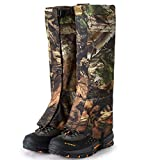 goforwealth Snake Guards Snake Proof Leggings,Waterproof Breathable Protection Snake Bite Scratch Proof Insect Bite Leggings Gaiters for Camping Hiking,L