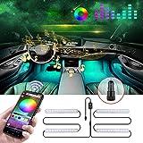 Boomersun Striscia LED RGB per interni per auto Illuminazione a LED Musica multicolore per...