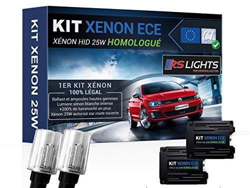 Kit Xénon H7 25W Voiture Auto – Homologué - Anti Erreur ODB - Blanc 6000K