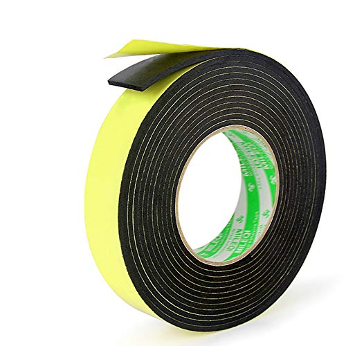 "Foam Insulation Tape Adhesive-for Seal, Doors, Weatherstrip, Waterproof, Plumbing, HVAC, Windows, Pipes, Cooling, Air Conditioning, Weather Stripping, Craft Tape (1 Roll, 33 Ft- 1/8"" x 1"" x 33')"