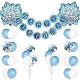 Decoraciones de cumpleaños congeladas para niñas con globos de...