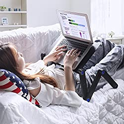Portable Laptop Stands for Bed or Couch -- DoubleFly Adjustable Laptop Stand for Bed