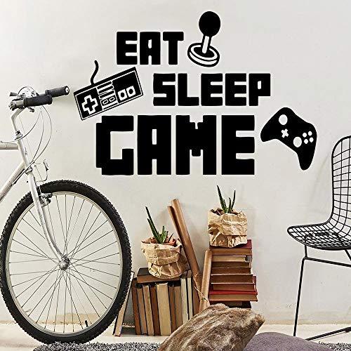 Dieta moderna juegos para dormir decoración de pared autoadhesiva decoración de pared decoración de sala de juegos pegatina de vinilo pegatina de pared A2 L 43x63cm