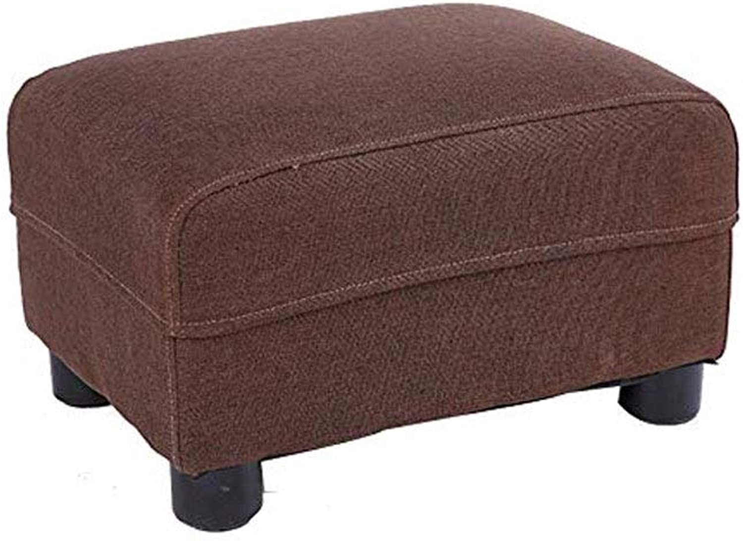 Footstool, Padded Footstool Solid Wood shoes Bench Seat Detachable Linen Cloth Small Stool (color   D)
