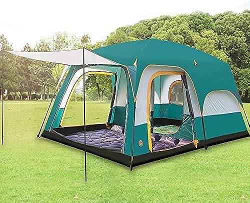 GL-outdoor Version Tente Double Couche Ultralarge 5-8 Personnes Utilisez Une Salle de Deux Chambres pour Tente de Camping familiale en Plein air