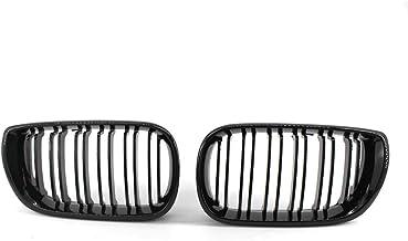 E46 02-05 color negro brillante Rejilla frontal de doble puente 4 puertas