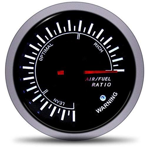 U/D HKRSTSXJ 60mm Luft-Kraftstoff-Verhältnis Spur Racing Luft-Kraftstoff-Meter-Anzeige Meter Motorrad-Kraftstoff-Sensor Gas Stufe