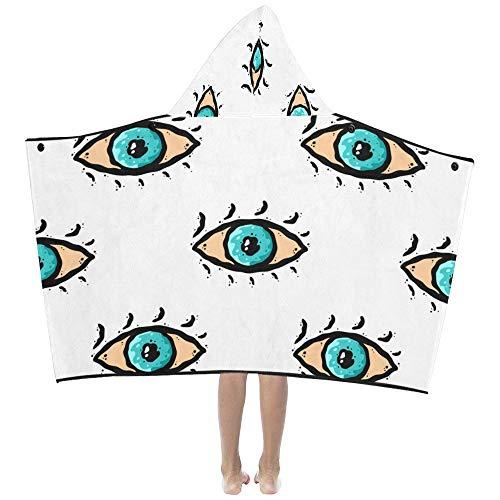 Cartoon Big Eye Style Style Doux Chaud Enfants Dress Up Capuche Couverture Portable Serviettes Bain Throw Wrap Pour Tout Petits Enfant Fille Garçon Taille Maison Pique Nique Sommeil Cadeau