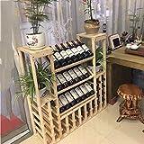 Casier à vin Vino Tinto De Madera Maciza Estante De Vino Séries De Expositions Gabinete De Vino Estante De Madera Créativité Estante De Gran Capacidad Piso Gabinete De Vino (Color : A2)