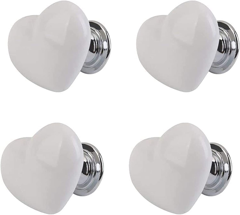 WDONGX Exquisite Door Handle 4pcs Ceramic Topics on TV Heart Long-awaited Knob