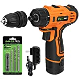 "GALAX PRO DC-12V 3/8"" Cordless Impact Drill Driver Tool Kit with Battery and Charger, LED Work Light, 17+1 Torque..."