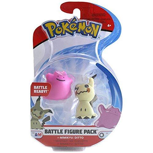Pokemon Battle Figuren Pack - MIMIMIKYU und Ditto - Set mit 2 Figuren 5 cm - WCT Toys