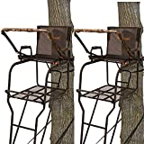 Big Game Hunter HD Camouflage 1.5 Deer Hunting 18.5 Foot 1 Person Adjustable Ladder Tree Stand (2...
