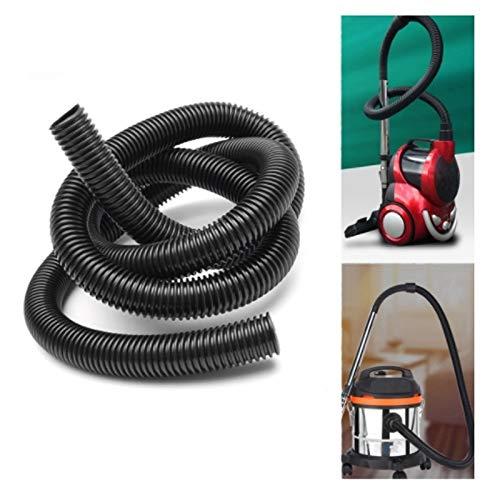 SYWY Mangueras para aspiradoras 2.5M 32 mm Flexible EVA Aspiradora Tubo Tubo Manguera extralarga for el hogar Accesorios Vacuum Cleaner Tubo Flexible (Color : Black)