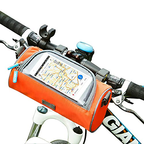 McNory Borse da Manubrio per Bicicletta in Tessuto Oxford Impermeabile con Touchscreen.Zaini Portaoggetti ed Accessori Multifunzionali per Ciclismo all'Aperto e Viaggi