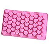UKtrade® Molde de los chocolates del silicón de la forma del corazón, trufas de la constitución del chocolate de los cubos de hielo