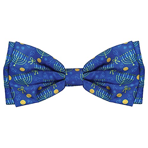 Huxley & Kent Bow Tie | Hanukkah (Extra Large) | Pet Bow Tie Collar Attachment | Fun Bow Ties for Dogs | Cute, Comfortable, and Durable